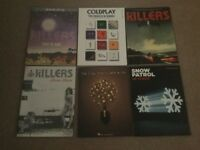Piano music books - Coldplay, killers, snow patrol & the Fray
