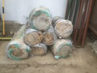 Free - 7 rolls of 100mm insulation, been stored in a builders yard so ends look tatty.