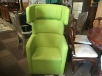 8 Available Green Bene PARCs Wing Chair by Pearson Lloyd - Breakout Furniture