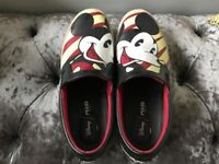 Designer MOA Mickey Mouse Slip Ons Size 9
