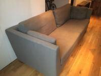 Stylish Modern Ikea Large 3 Seater Grey Sofa Good Condition