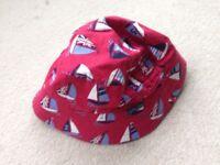 Jojo Maman Bucket Sun Hat Boat print age 2-3
