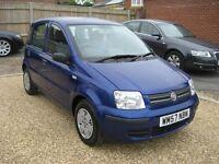 Fiat Panda 1.2 Dynamic 5 door. 2008 in blue 67,000 miles