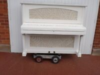 CHAPPELL OVER STRUNG SHABBY CHIC WHITE £350 CAN DELIVER