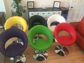 Colourful dining chairs (6)