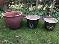 3 x Garden Planter Pots