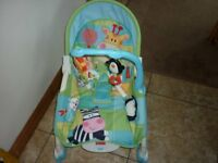 Fisher Price Birth to Toddler Baby Chair with Vibrate and Toybar