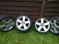 "4 x 18"" genuine Audi alloy wheels"