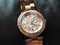 Michael Kors Rose Gold 100% Genuine Watch mint condition