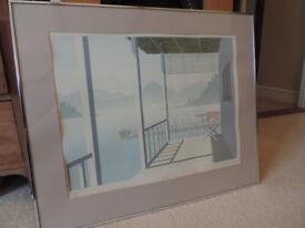Original Signed & Framed Mick Durrant Silkscreen Print 'Lugano' Picture