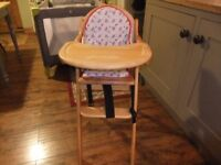 Foldable Wooden Highchair
