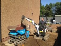 Mini/Micro Digger Hire With Operator, Groundwork's & Landscaping Services