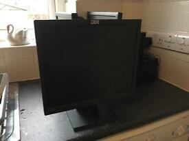 IBM flat screen computer monitor