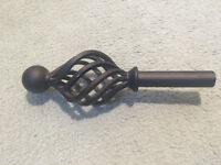 Jim Lawrence forged iron curtain poles