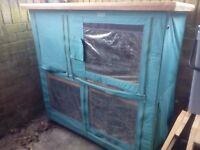 Lazy bones 2 storey rabbit hutch and cover