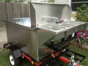 Hot dog cart - steam or babeque cooking - financing available - BRAND NEW