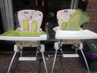 Mamas and papas high chair x 2