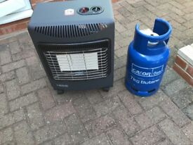 Buy with or without the gas bottle - hardly used gas heater