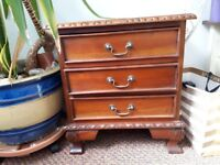 Bedside Table / hall table small wooden Table with 5 drawers