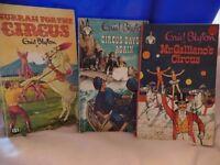 3 vintage Enid Blyton paperbacks of the circus series