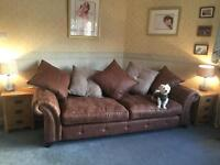 DFS Oakland 4 seater sofa in brown combination only 9 months old