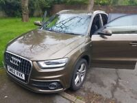 Audi Q3 - S line - 62 plate, part leather, jave Brown - rare-