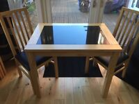 Lovely Marble Top Kitchen Table and Chairs - great condition