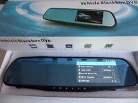 Car Dash Camera Rearview Mirror DVR Video Recorder
