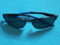 New M&S Older Childs Blue Arm Sunglasses IP1