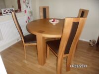 Casa ROUND TABLE And Four Matching Chairs In SOLID WOOD