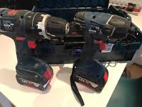 18v Bosch twin drill and impact driver