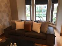 Ikea 3+2 charcoal grey sofas , great condition
