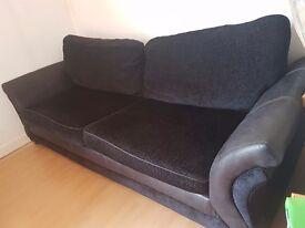 Black 4 seat DFS Sofa - URGENT - Great condition
