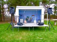 Mobile stage for outdoor events