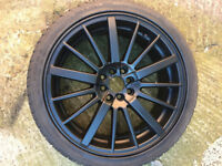 "Honda accord civic crx jazz prelude legend Black Alloy wheels 18"" inch Rover MG ZR ZS alloys wheel"