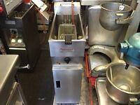 CATERING COMMERCIAL VALENTINE SINGLE FRYER CAFE RESTAURANT KEBAB CHICKEN BBQ FAST FOOD BARKITCHEN