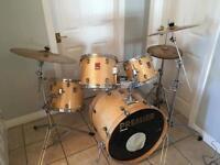 Premier drum kit with Zildjian cymbals