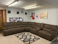 Beautiful Ex Display brand new power recliner Harvey's large corner sofa