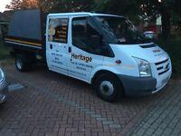 Transit tipper crew cab