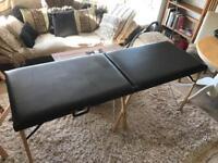 Black Portable Massage table /reiki / tattoo