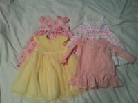 4x Baby Girl Dresses for sale - 9-18 months