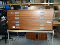 A0 Plan Chest In Wood With 6 Drawers