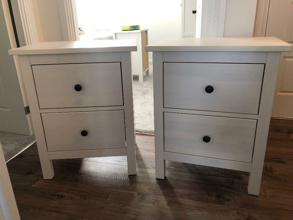 Pair Of Ikea Hemnes 2 Drawer Bedside Tables White Stain In Ifield West Sussex Gumtree