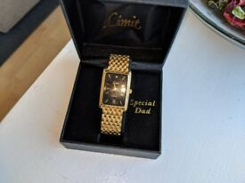 LIMIT MEN'S GOLD PLATED 'SPECIAL DAD' BRACELET WATCH