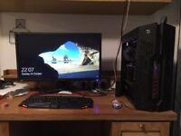 GAMING PC /I5-6600k/GTX 970/32GB/500GBSSD/1TBHDD/WaterCooled DeepCool CASE/Acer 4kNvidiaSync Monitor