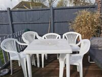 GARDEN TABLE AND CHAIRS