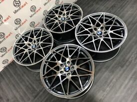 """BRAND NEW 20"""" BMW COMPETITION PACK STYLE ALLOY WHEELS - 5 x120 -GREY/DIAMOND CUT FINSIH"""