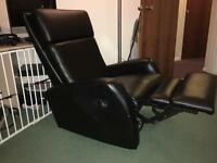 Rock and swivel recliner chair