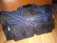 Large black & blue DSL sports bag