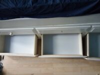 White Single Bed with pull out bed underneath and storage